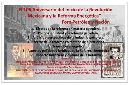 106 Aniversario de la Revolucion Mexicana y la Reforma Energetica